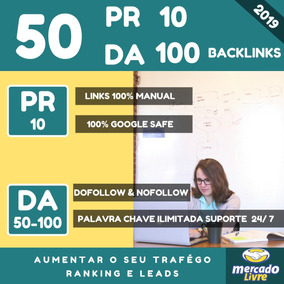 Comprar Backlinks Dofollow Nofollow 50 Pr 10 Da 100 Seo Mkt