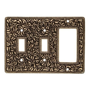 Vicenza Designs Wp7012san Michele Doble Toggle/dimmer Plac