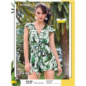 Romper Verde Multicolor Dama Cklass 017-86 Pvms-2019
