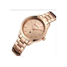 Relógio Curren 9007 Feminino Gold