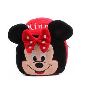 Mochila Pelúcia Minnie Vermelha Disney Jardim Infância