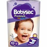 Bolson 96 Pañales Babysec Premium Talla Xg