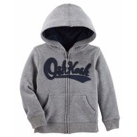 Oshkosh - Polera Con Capucha - Gris - Para Niño- Tallas : 4t