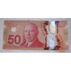 Canadá 1 Uma Cédula Original 50 Dólares Canadenses Polímero