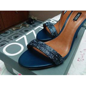 Sandália Arezzo Vidrilho - Jeans Escuro