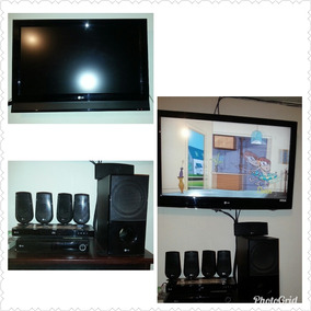 Combo Tv 42 Y 32 + Blu Ray + Home Theater + Bases Pared