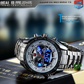 a4ba9472a Relógio Masculino De Luxo Led Tvg Seals Elite Original Lindo
