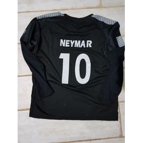 Jersey Paris Negro Sublimado Con Escudo Bordado Neymar ca7667ece50b9