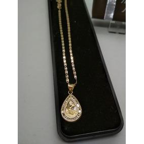 Medalla Primera Comunion Oro Solido Cadena 50 Cms