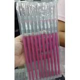 Kit 4xcom 10=40 Pincel Gel Uv Pinceis Manicure Acrigel