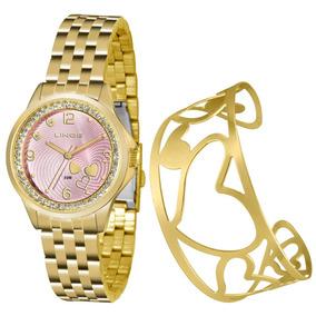 de7a76030b0 Relogio Feminino Extra Grande Dourado - Relógios no Mercado Livre Brasil