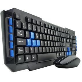 Kit Teclado Mouse Gamer Sem Fio Wireless 2.4ghz 1000dpi Usb