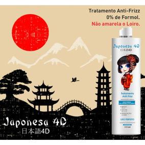 Escova Japonesa 4d Zero Formol Não Amarela O Loiro 1 Litro