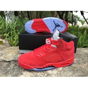 Tenis Nike Air Jordan 5 Retro Red Suede Original