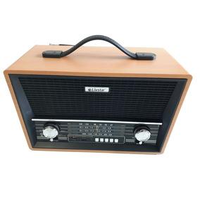 Rádio Portátil Caixa De Som Madeira Retro Modelo Antigo Novo