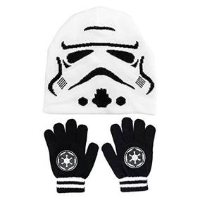 Star Wars Storm Trooper Punto Beanie Y Guante Conjunto 26c24fd19bc