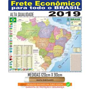Mapa Brasil Politico Rodoviario 120 X 90 Enrolado Frete R$20