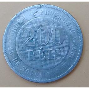 Moeda Brasileira Antiga - 200 Réis