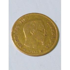 Medalla Oro 22 Klts. Napoleon Iii Año 1857 10 Francos