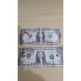 Duas Notas De 1 Dólar Americano - Séries 1981 A E 1999