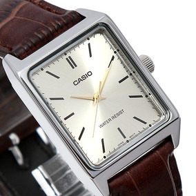 Relógio Casio Social Mtp V007 Couro 100% Original