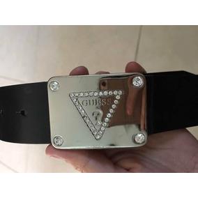 Cinturón Cinto Fajo Guess Mujer Negro Piel M Logo Swuarovsky e834fa6d272d