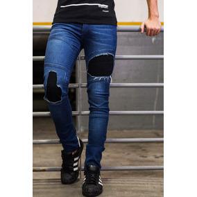 e2ddc8308c064 Pantalon De Jean Con Parches Hombres - Ropa y Accesorios en Mercado ...