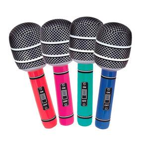 12 Micrófono Inflable Colores 25 Cm Karaoke Fiestas Boda Fh3