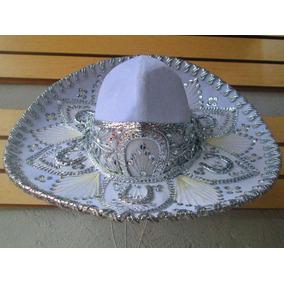 Sombrero Charro Blanco Plata Bebe Niño Traje Mexicano 30b5413480f