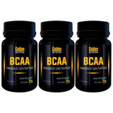Kit Com 3 Bcaa - 60 Cápsulas - Golden Nutrition