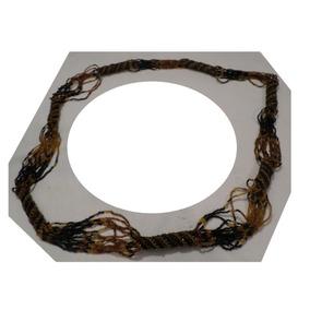 Collar De Chaquiras Grande Para Dama 60x2=120 Cm Negro Oro