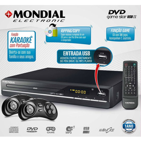 Dvd Player Game Bivolt Star Ii 300 Jogos Mondial Usb Karaoke