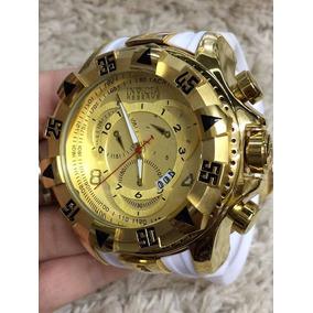 Relógio Masculino Dourado Barato Pesado Aço Top !!!
