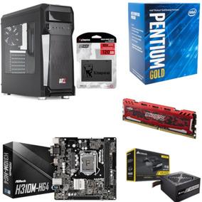 Pc Axtro Pentium G5400 Mb H310m Hg4 Bl 4gb Vs400 Ssd 120gb