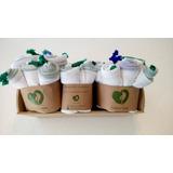 4 Paquetes De Ecobolsas Para Frutas/verduras Corazón Verde