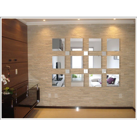 Espelhos De Vidro Quadrados, Decorativos Barato - Kit Grande