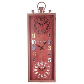 85b5f62c0d6 Relógio Parede Mundial Tripred Oldway 101 X 35 X 7cm