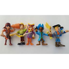 Kit 5 Bonecos Scooby Doo Piratas