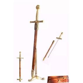 Mini Espada Medieval Abridor De Cartas Inox Enfeite Colecao