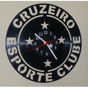 e89b73fc6fb Relógio De Parede Em Disco De Vinil - Futebol - Cruzeiro