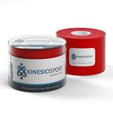 Bandagem Elastica Adesiva Kinesiosport Ks 007 Vermelho