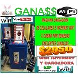 Maquina De Internet Wifi Y Cargadora De Celulares Con Cobro