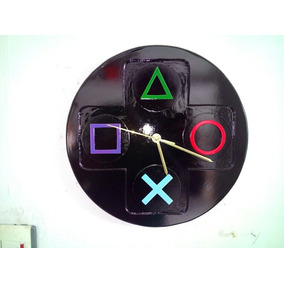 Reloj De Pared Manecillas Joystick Playstation Ps