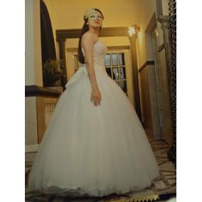 fb45ff123b Vestido De 15 Color Marfil Muy Delicado. Impecable. - Vestidos en ...