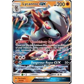 Lycanroc Gx 74/145 - Pokémon Tcg - Carta Em Português