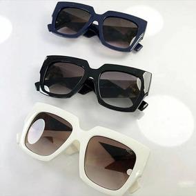 656423f0321a7 Oculos Quadrado Borda Branca De Sol - Óculos no Mercado Livre Brasil