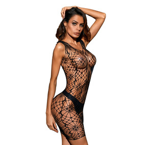 Sexy Baby Doll Lenceria Camison Red Malla Table Dance 31073