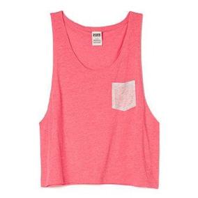 Victorias Secret Blusa Rosa Tipo Tank Talla Mediana Amyglo