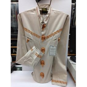 Camisa Charra/pachuqueña Aplicación Piel Espuela De Oro