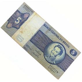 5 Cinco Cruzeiros Rara Antiga Nota Cédula Nacional N0478